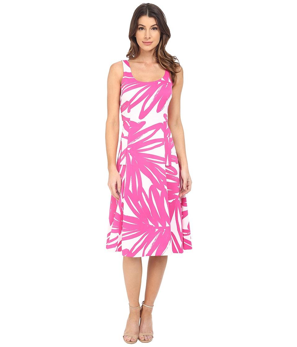 Donna Morgan - Pique Knit Sleeveless Scoop Midi Dress (Enamel/Flux) Women's Dress
