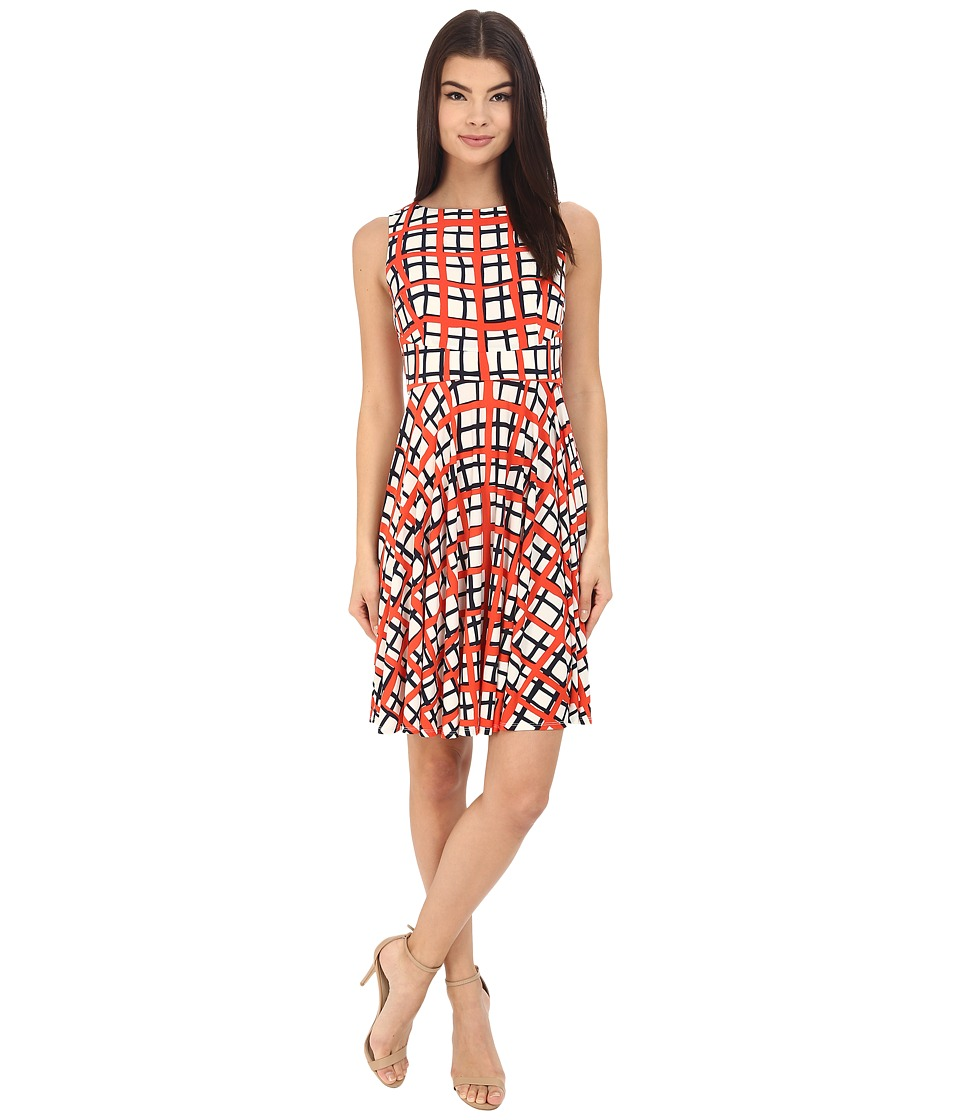 Donna Morgan - Sleeveless Printed Jersey with Circle Skirt (Headlight Multi) Women's Dress
