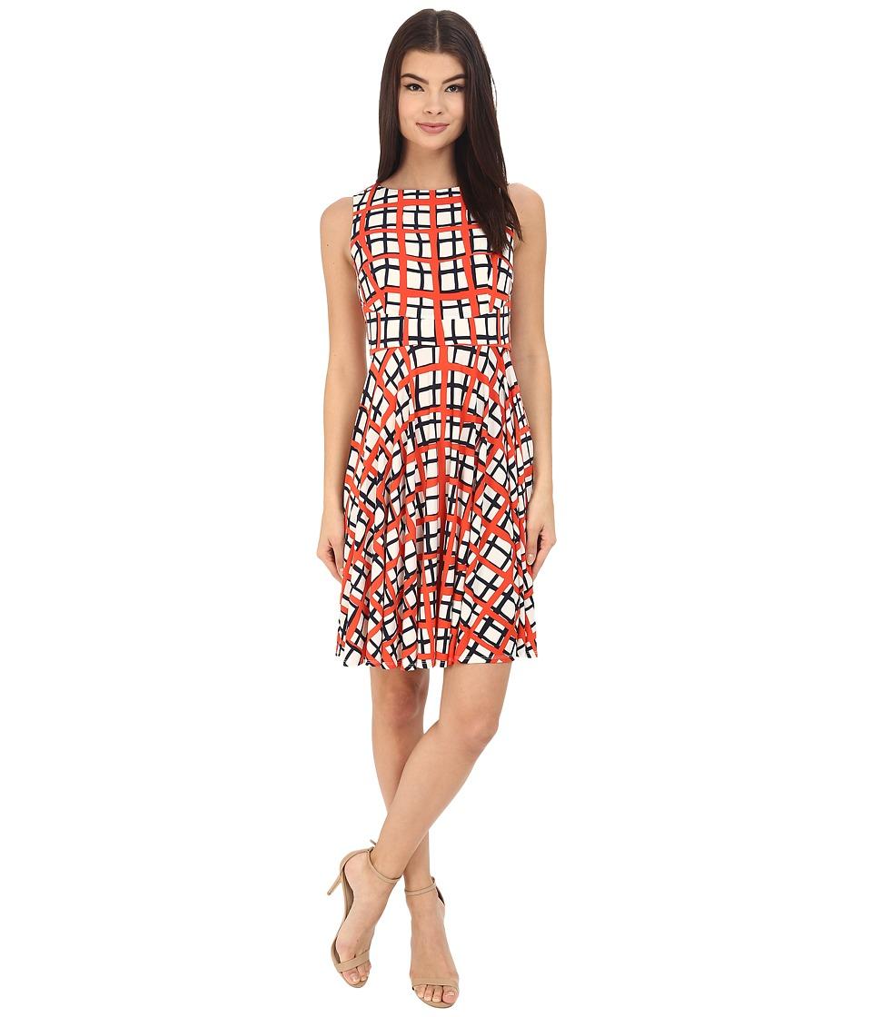 Donna Morgan - Sleeveless Printed Jersey with Circle Skirt (Headlight Multi) Women's Dress
