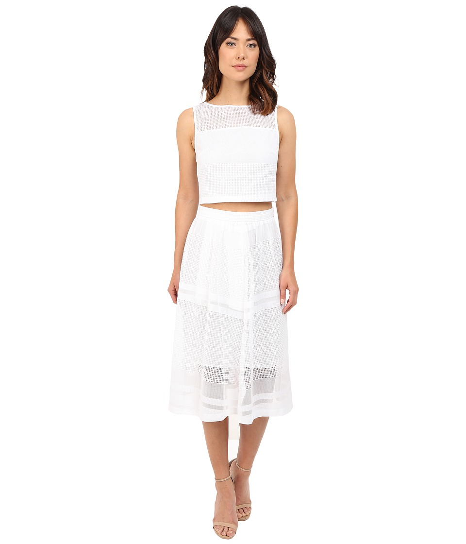 Donna Morgan - Two-Piece with Longer Length Skirt (White) Women's Dress