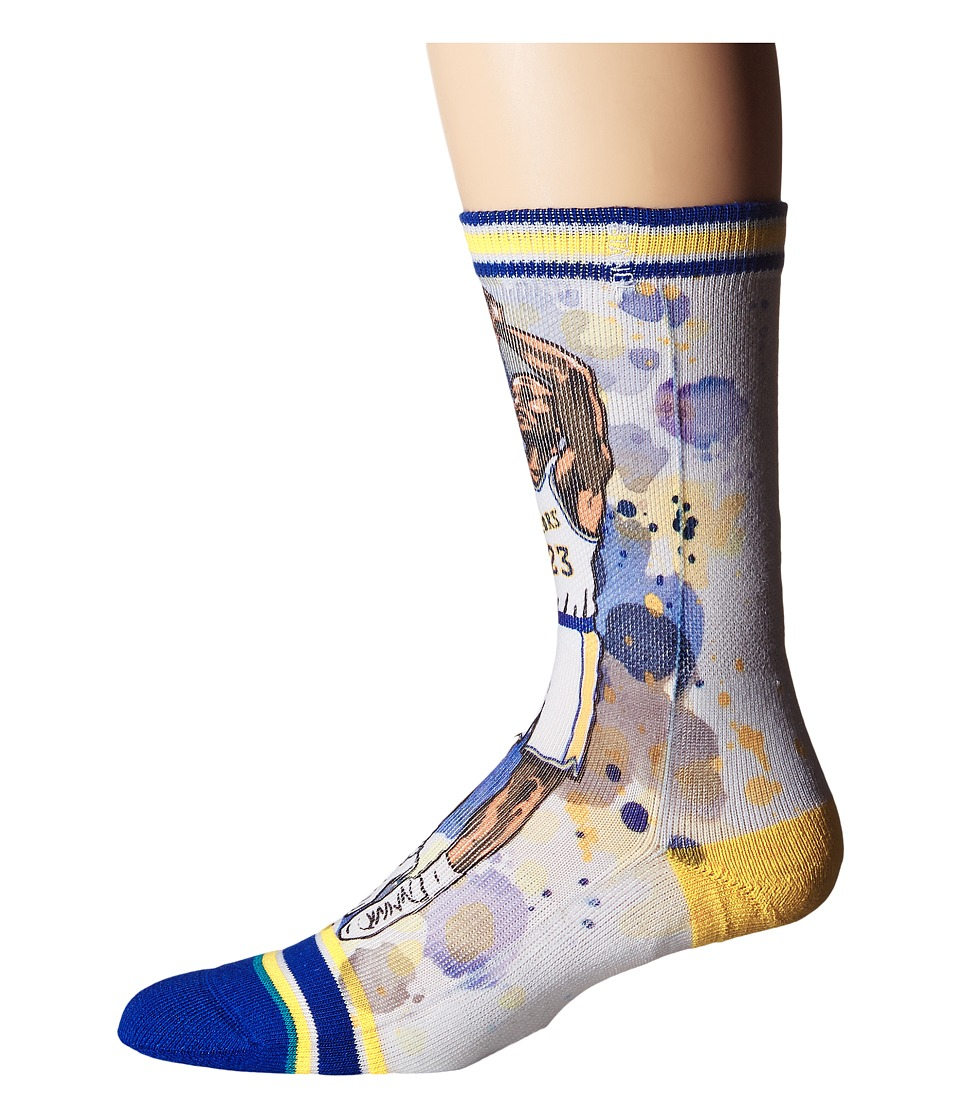 Stance - Rock (Blue) Men's Crew Cut Socks Shoes