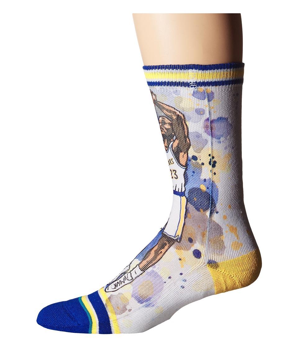 Stance - Rock (Blue) Men's Crew Cut Socks Shoes