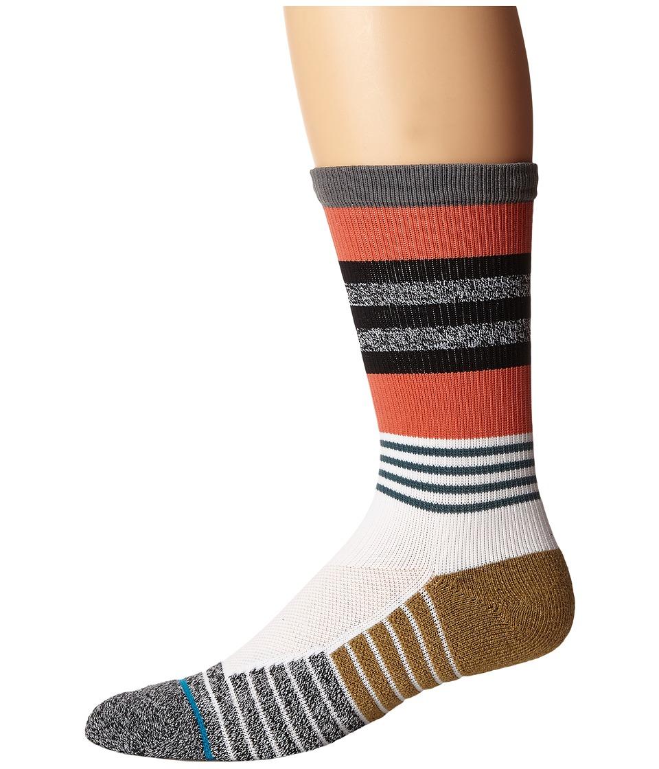 Stance - Triot (Orange) Men's Crew Cut Socks Shoes