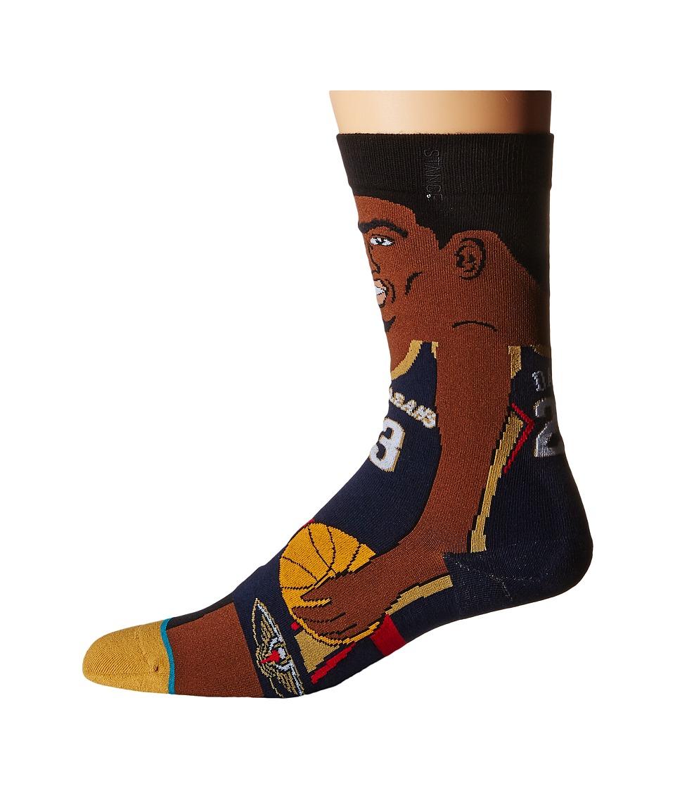 Stance - Anthony Davis (Navy) Men's Crew Cut Socks Shoes