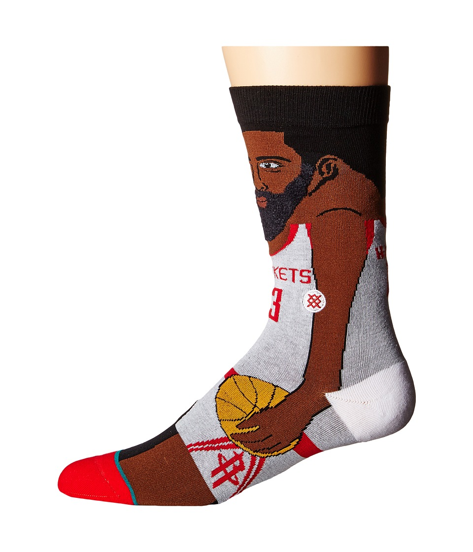 Stance - J. Harden (White) Men's Crew Cut Socks Shoes