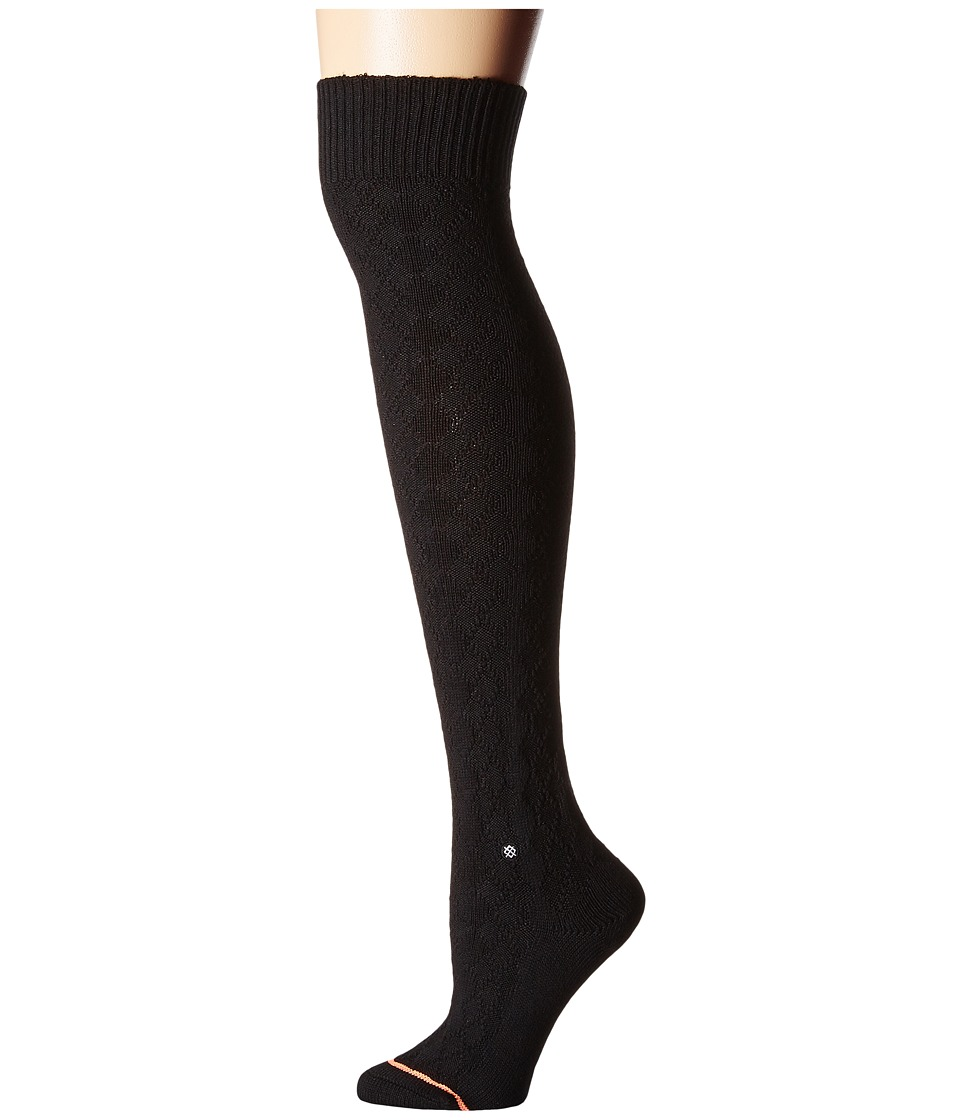 Stance - Pom Pom (Black) Women's Crew Cut Socks Shoes