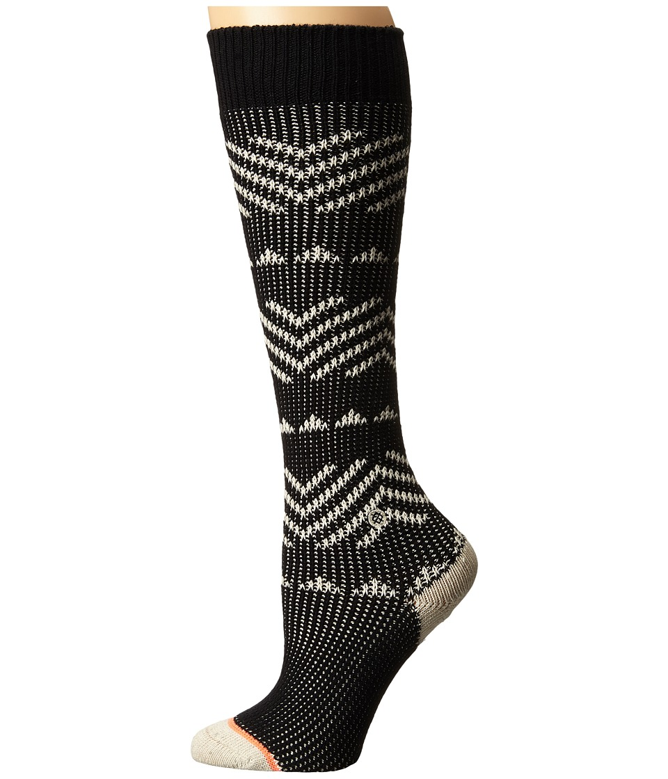 Stance - Del Valle (Black) Women's Crew Cut Socks Shoes