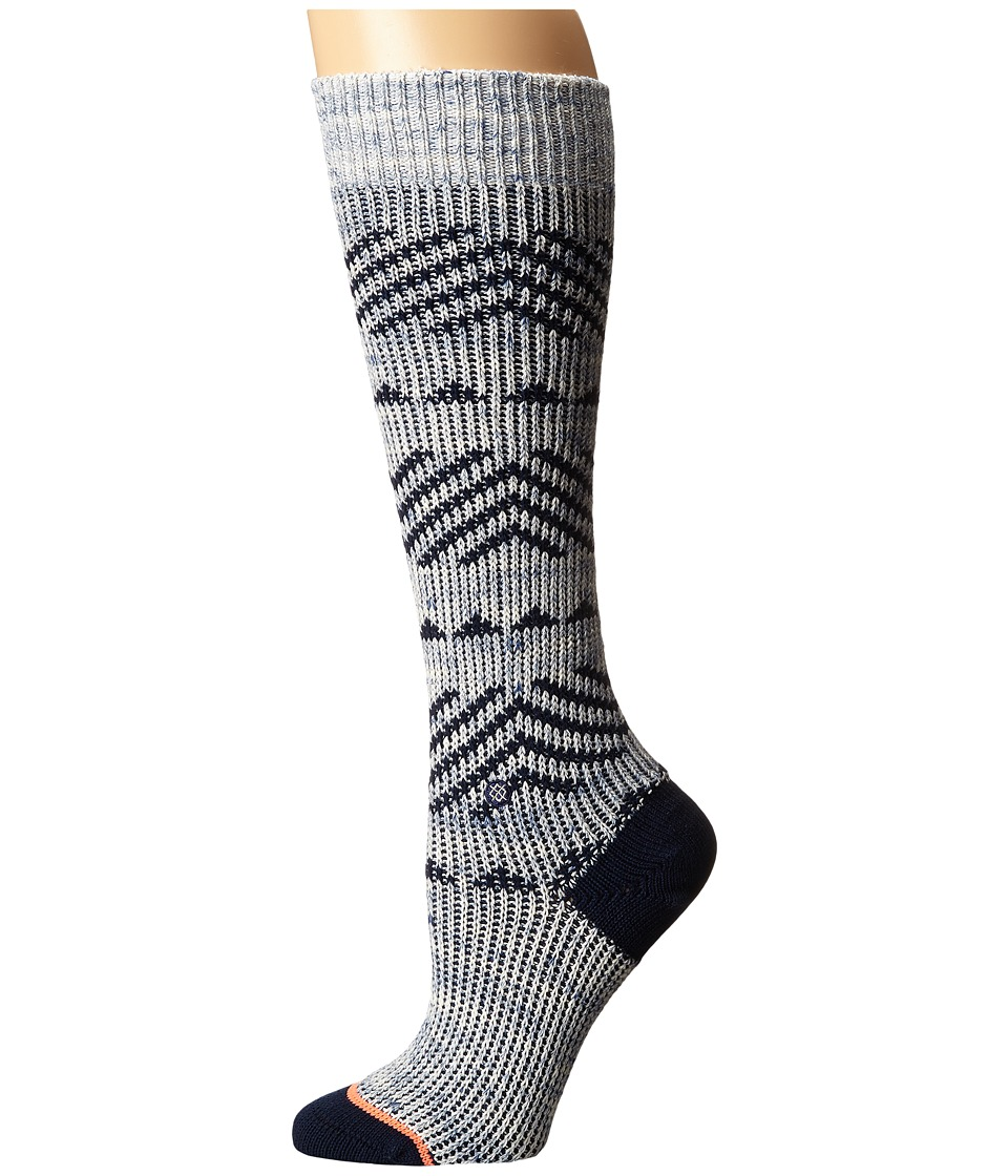 Stance - Del Valle (Blue) Women's Crew Cut Socks Shoes