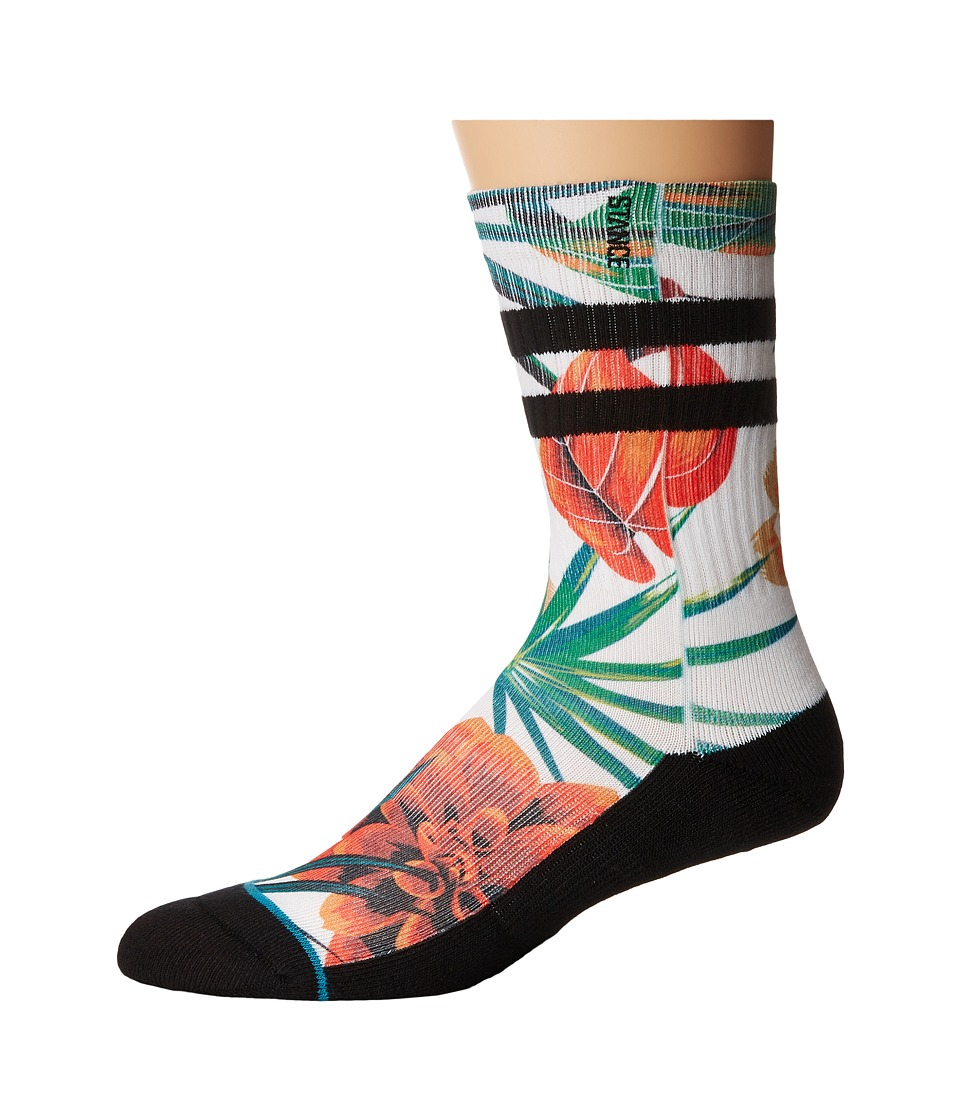 Stance - Wanderer (Black) Men's Crew Cut Socks Shoes