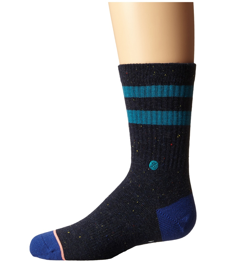 Stance - Stripe Crew (Toddler/Little Kid/Big Kid) (Black) Women's Crew Cut Socks Shoes