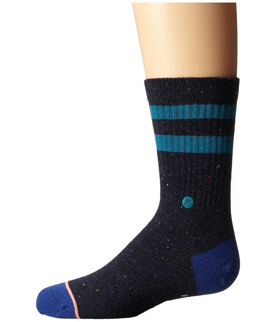 Stance - Stripe Crew (Toddler/Little Kid/Big Kid) (Black) Women's Crew Cut Socks Shoes