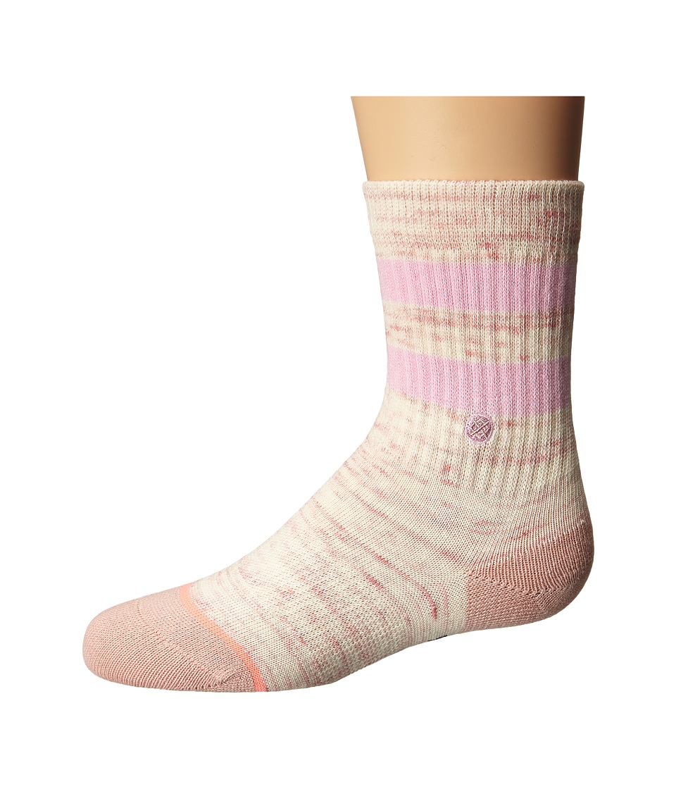 Stance - Stripe Crew (Toddler/Little Kid/Big Kid) (Pink) Women's Crew Cut Socks Shoes