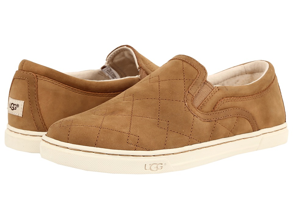 UGG - Fierce Deco Quilt (Chestnut) Women's Slip on Shoes