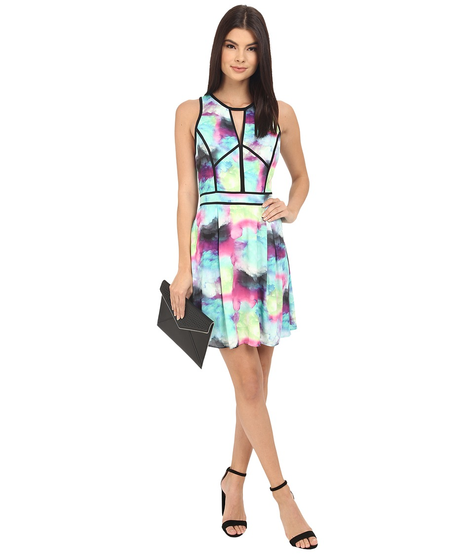 Adelyn Rae - Abstract Print Fit and Flare Dress (Multi) Women's Dress