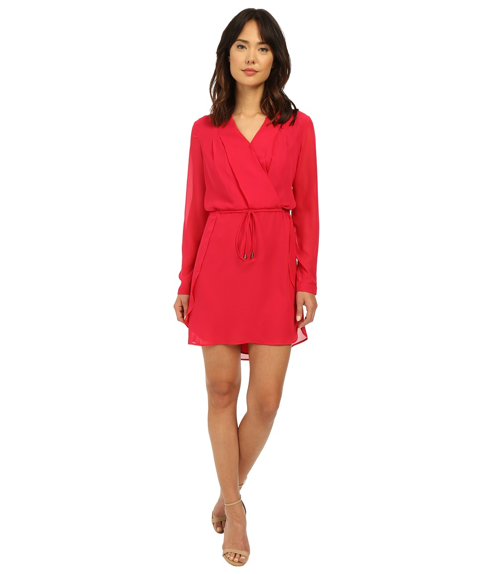 Adelyn Rae - Drawstring Waist Shirtdress (Deep Pink) Women's Dress