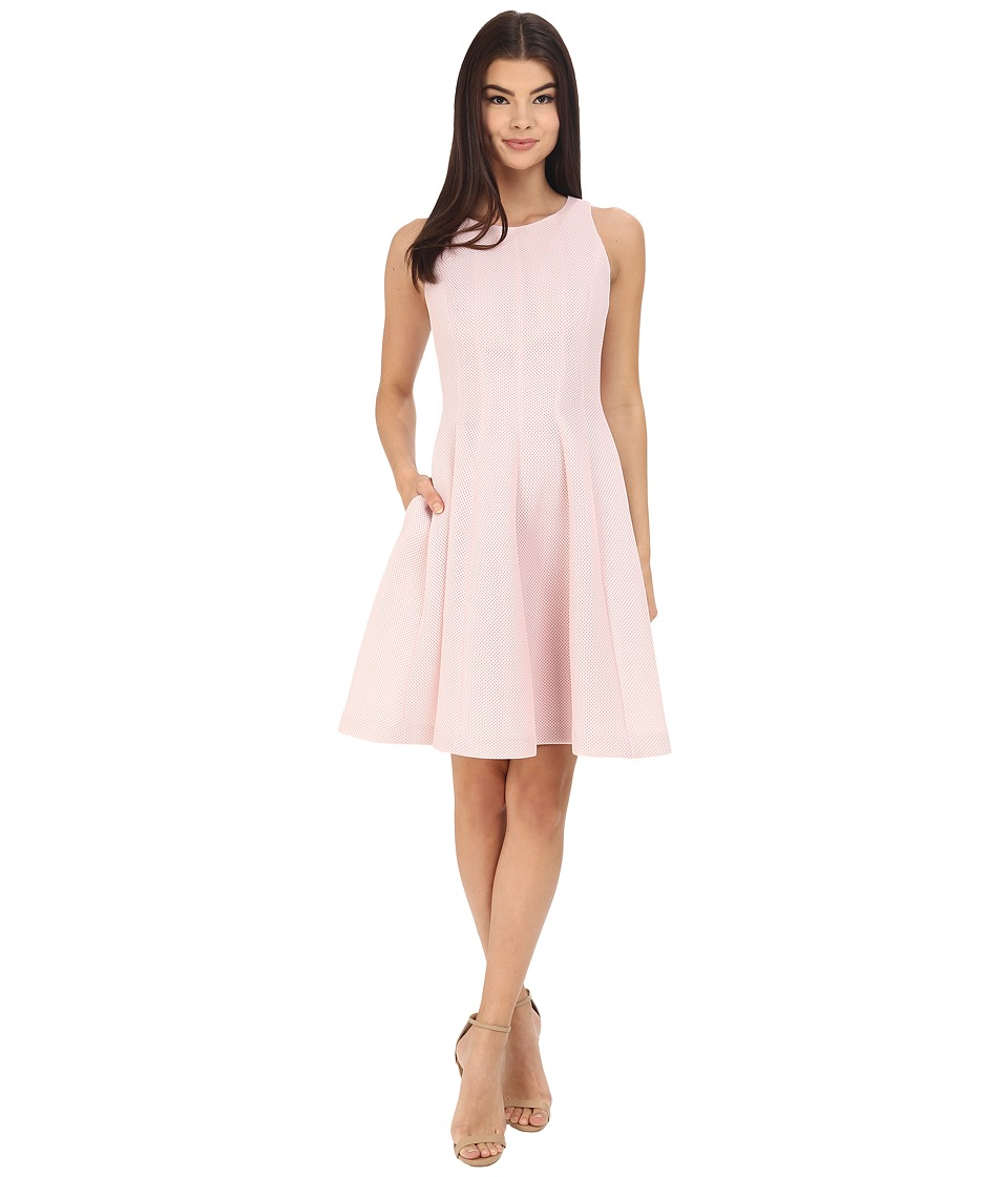 Badgley Mischka - Seamed Flare Dress (Pale Pink) Women's Dress