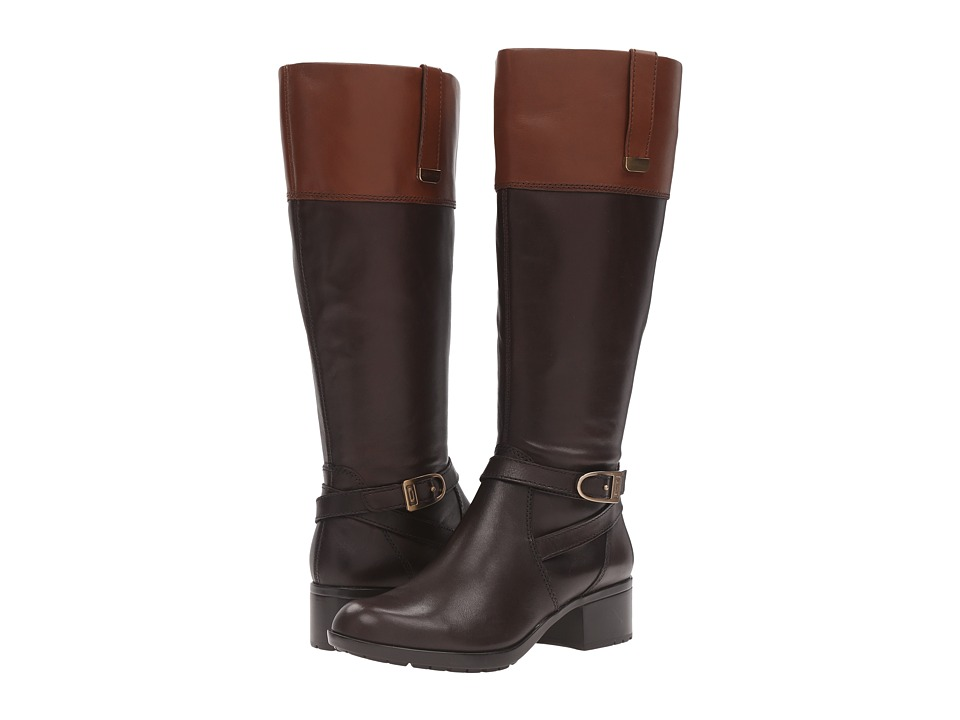 Bandolino - Baya Wide Calf (Dark Brown/Cognac) Women