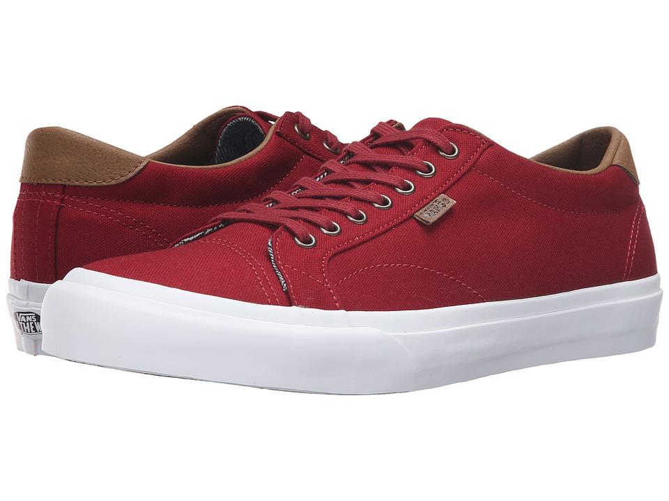 Vans Court C&L Red Dahlia-True White 2 Mens Skate Shoes