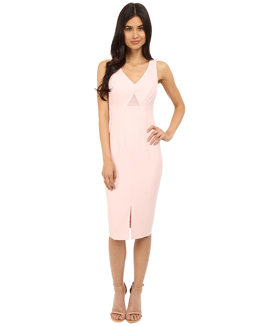 Donna Morgan - Sleeveless Crepe Bodycon Midi Dress with Cut Out (Pulp) Women's Dress