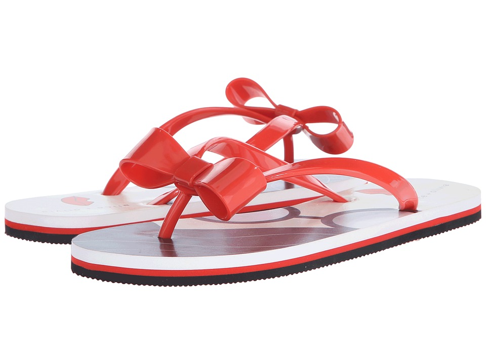 Alice + Olivia - Stace Face Flip Flop (Red/White Stace Face) Women's Sandals