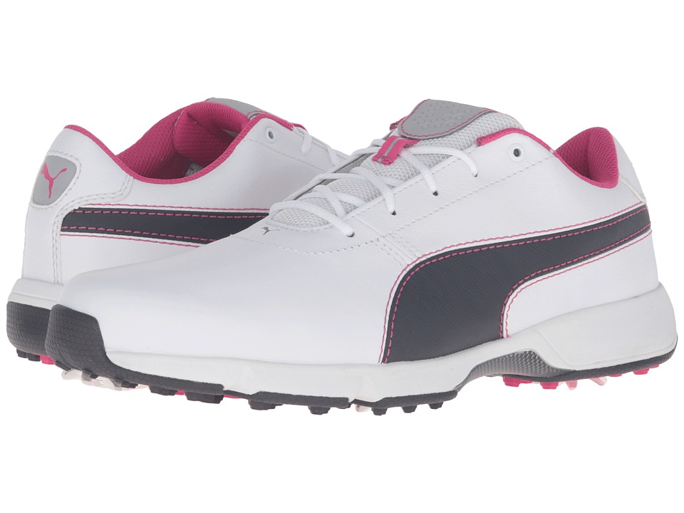 PUMA Golf - Ignite Drive (White/Periscope/Beetroot Purple) Men's Golf Shoes