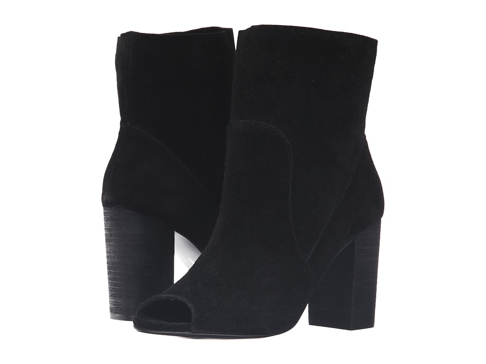 Chinese Laundry - Tom Girl (Black Split Suede) Women's Pull-on Boots