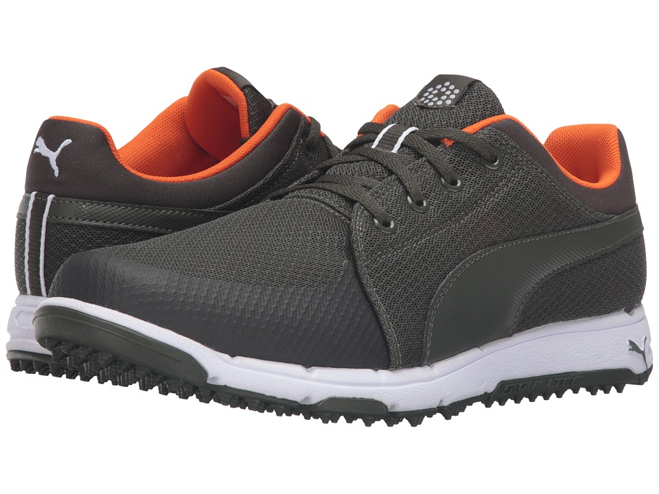 PUMA Golf - Grip Sport (Forest Night/Vibrant Orange) Men's Golf Shoes