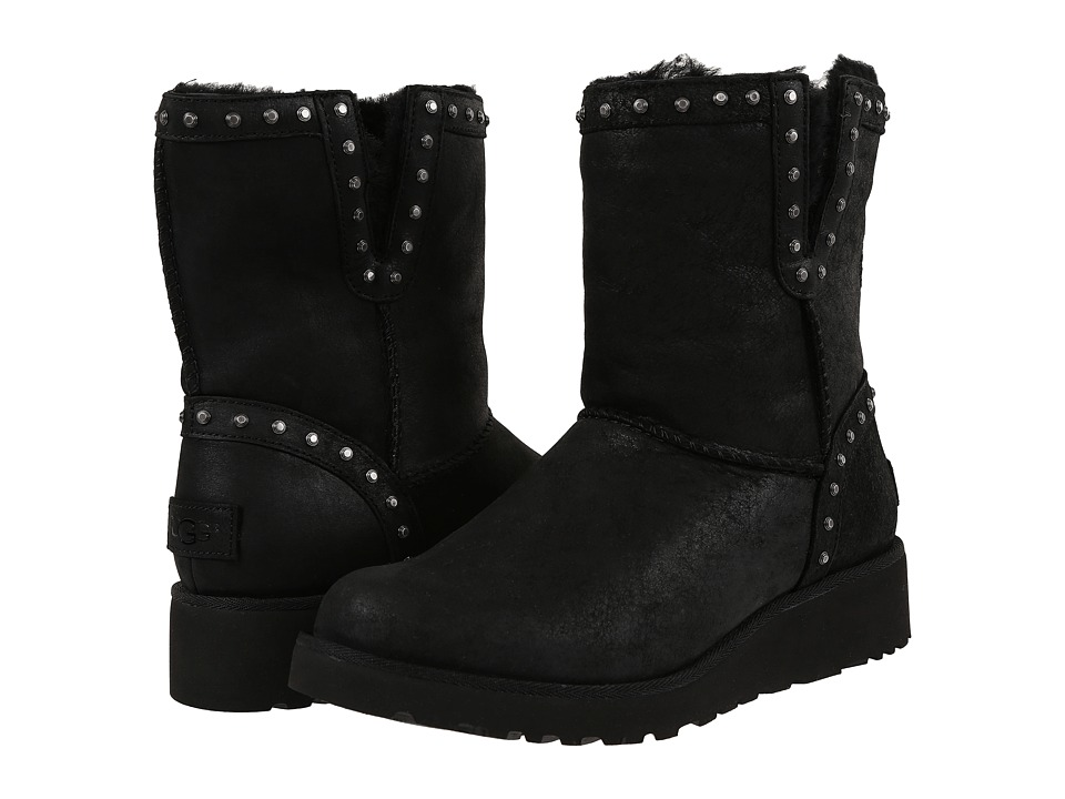 UGG - Cyd Leather (Black) Women's Boots