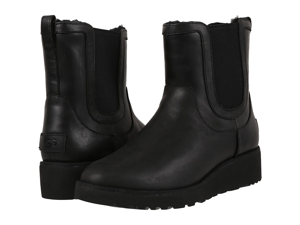 UGG - Britt Leather (Black) Women's Boots