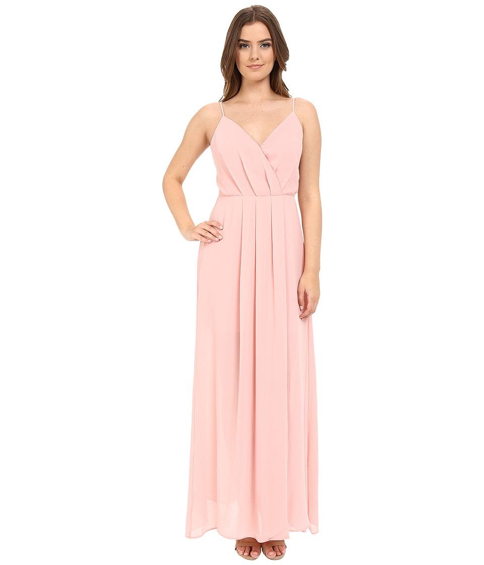 Adelyn Rae - Spaghetti Strap V Front Maxi Dress (Light Pink) Women's Dress