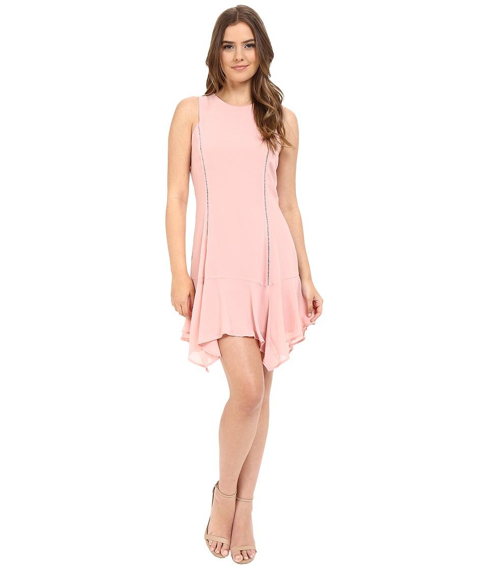 Adelyn Rae Handkerchief Hem Sleeveless Dress (Light Pink) Women