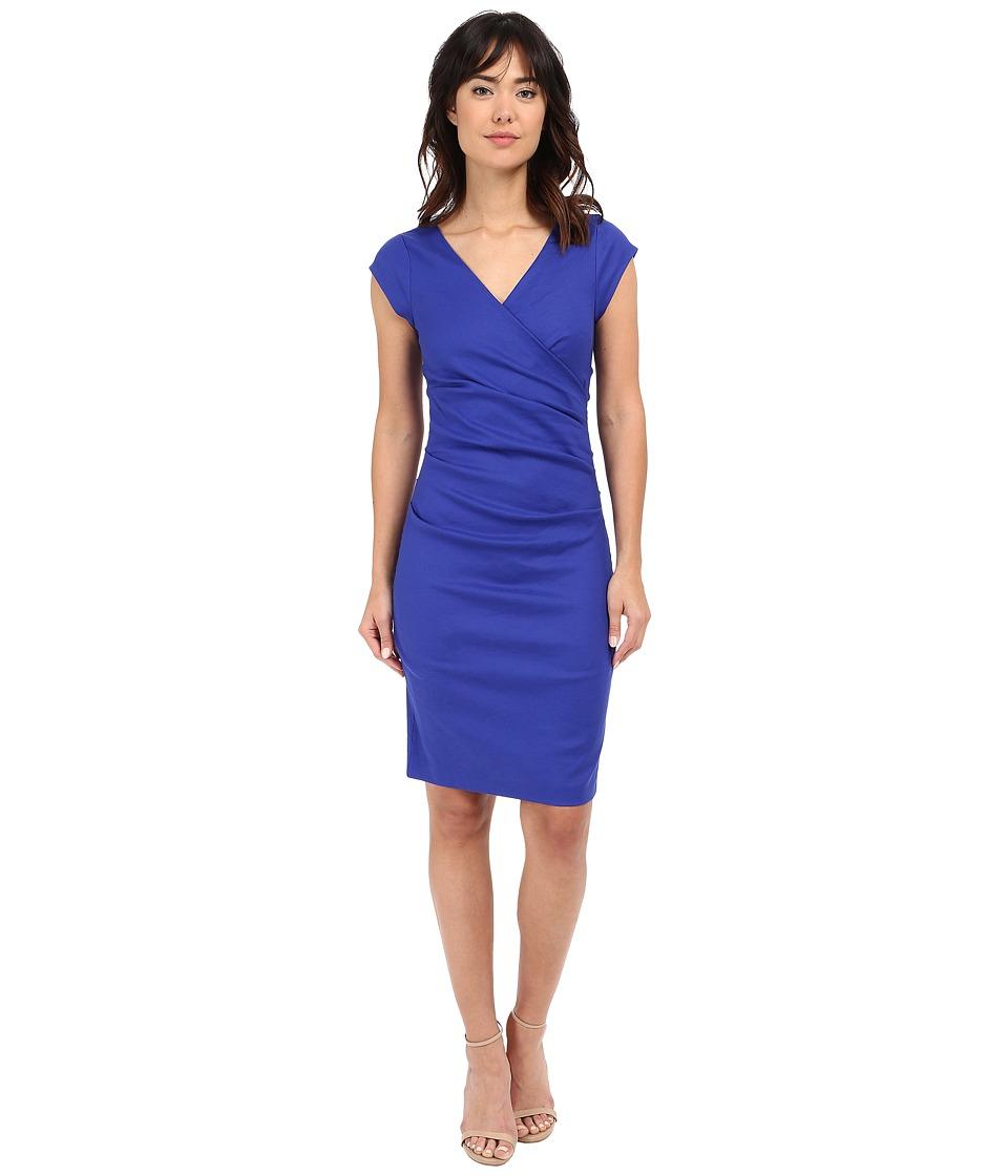 Nicole Miller - Linen Beckett Dress (Royal Blue) Women's Dress
