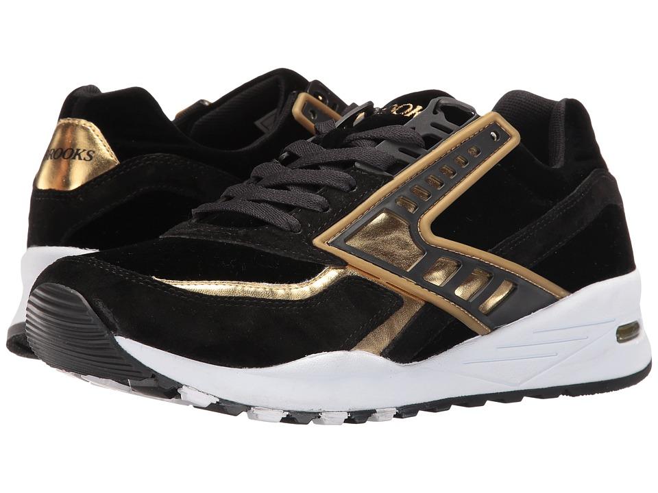 Brooks Heritage - Regent (Black/Gold Chrome) Men's Running Shoes