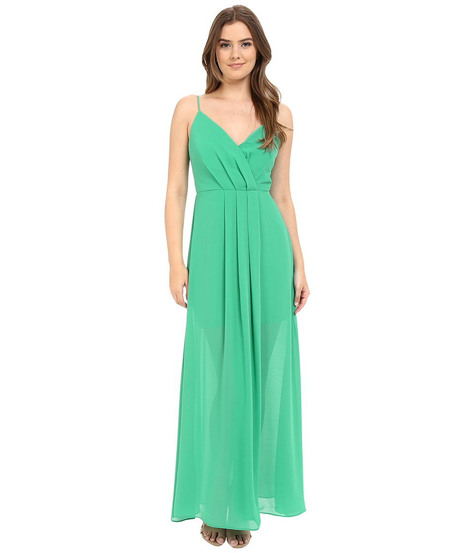 Adelyn Rae - Spaghetti Strap V Front Maxi Dress (Seafoam) Women's Dress