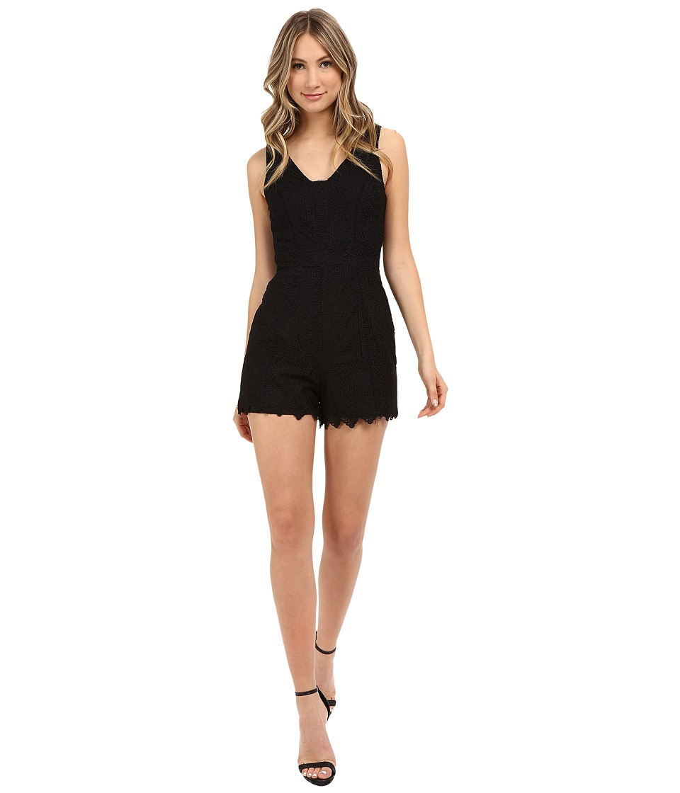 Adelyn Rae - Lace Romper (Black) Women's Jumpsuit & Rompers One Piece