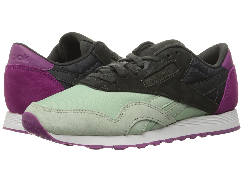 Reebok Classic Nylon CB (Sage Mist/Coal/Fierce Fuchsia/White) Women