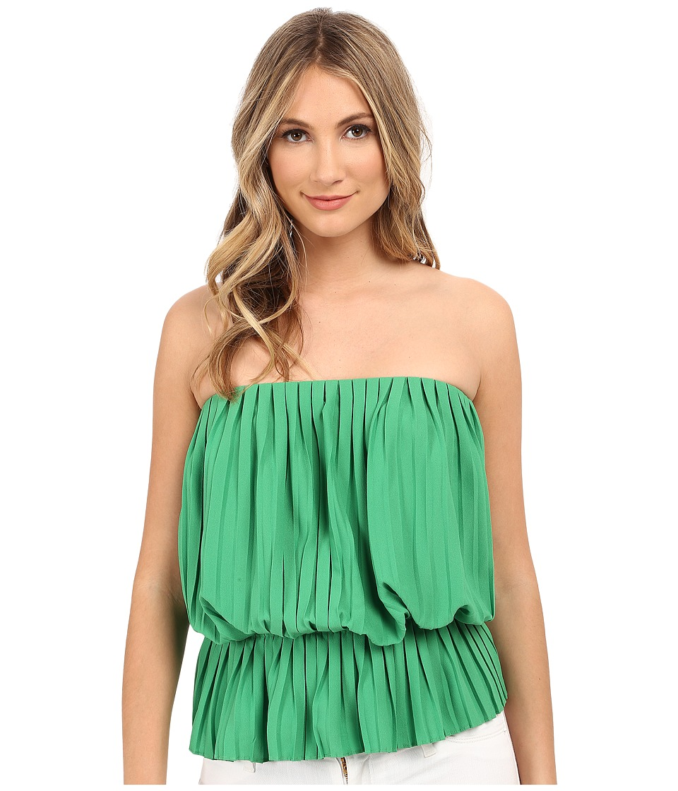 Nicole Miller - Pleated Peplum Tube Top (Paradise Green) Women's Blouse
