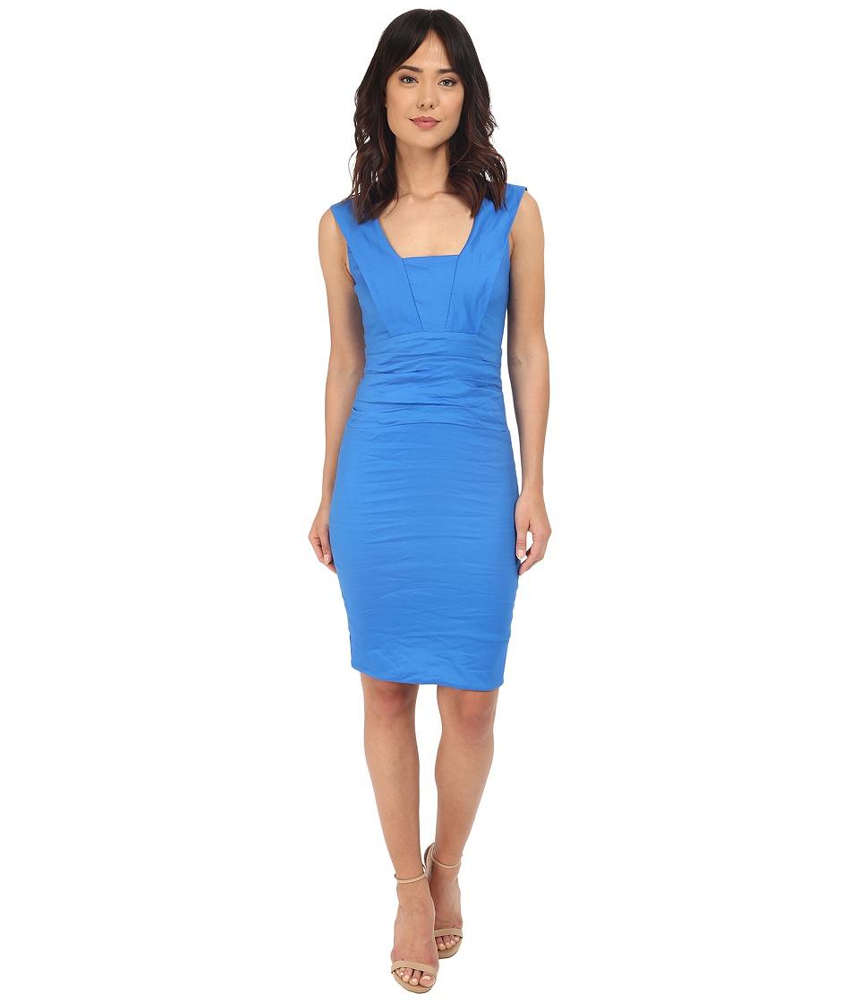 Nicole Miller Mercury Cotton Metal Dress (Maldives Blue) Women