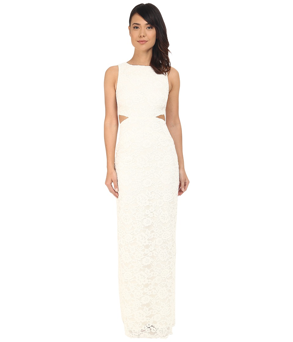 Nicole Miller - Corded Lace Queen of the Night Gown (White) Women's Dress
