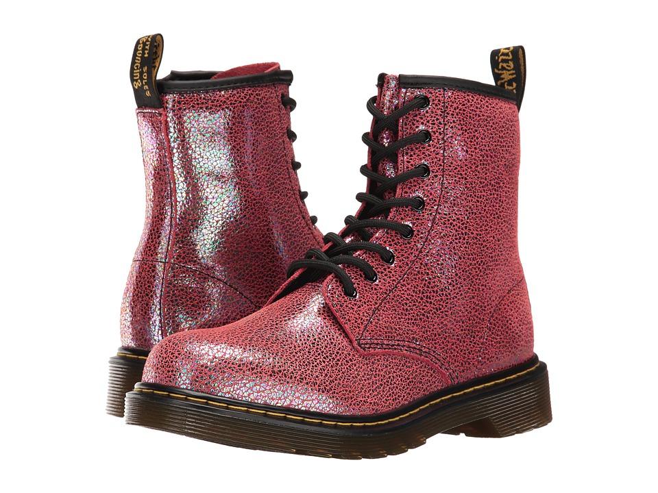 Dr. Martens Kid's Collection - Delaney Boots (Big Kid) (Pink Sparkle) Kids Shoes