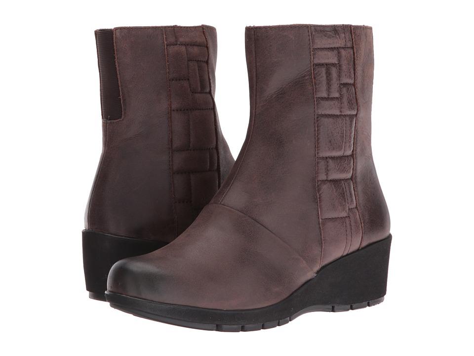 Aetrex - Essence Jane (Dark Brown) Women's Zip Boots
