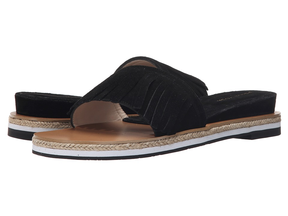 Pelle Moda - Jade (Black Calf Suede) Women's Slide Shoes