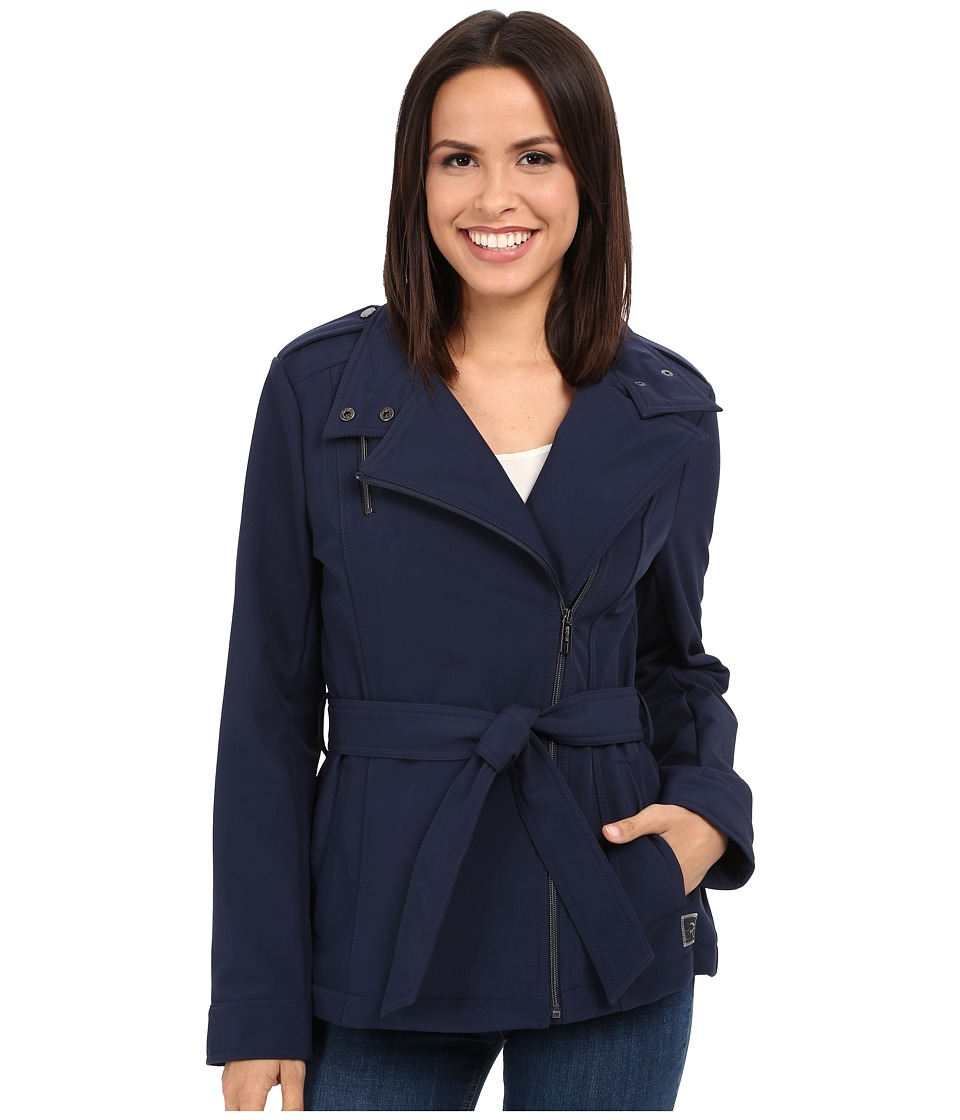 Kenneth Cole New York - Asymetrical Zip Front Softshell Jacket (Midnight) Women