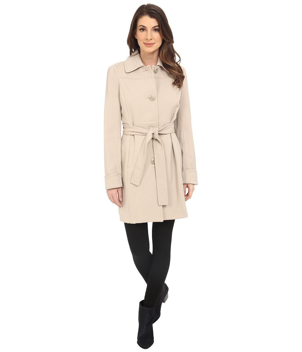 Kenneth Cole New York - Button Front Trench Coat (Bone) Women