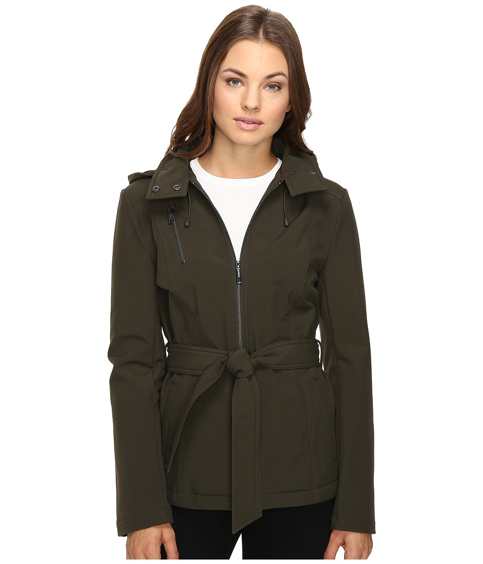 Kenneth Cole New York Zip Front Softshell Jacket (Olive) Women