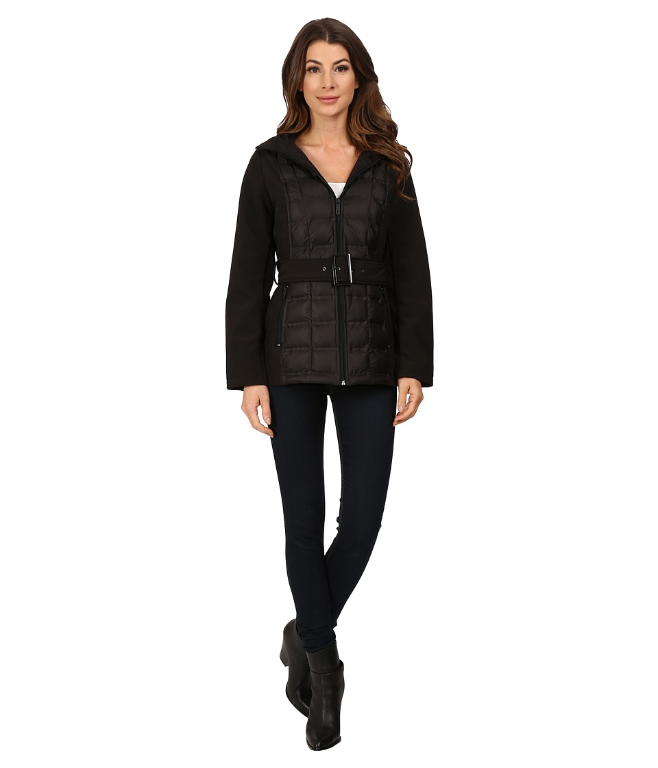 Kenneth Cole New York - Quilted Softshell Jacket (Black) Women's Coat