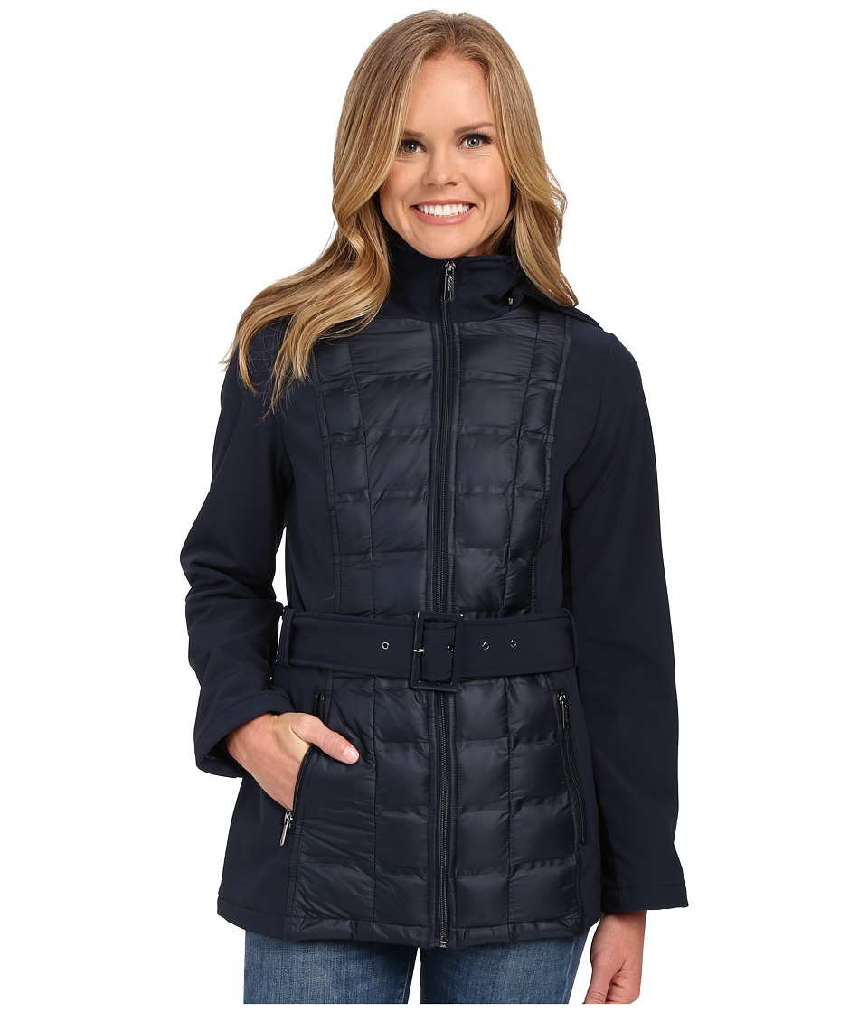 Kenneth Cole New York - Quilted Softshell Jacket (Navy) Women's Coat
