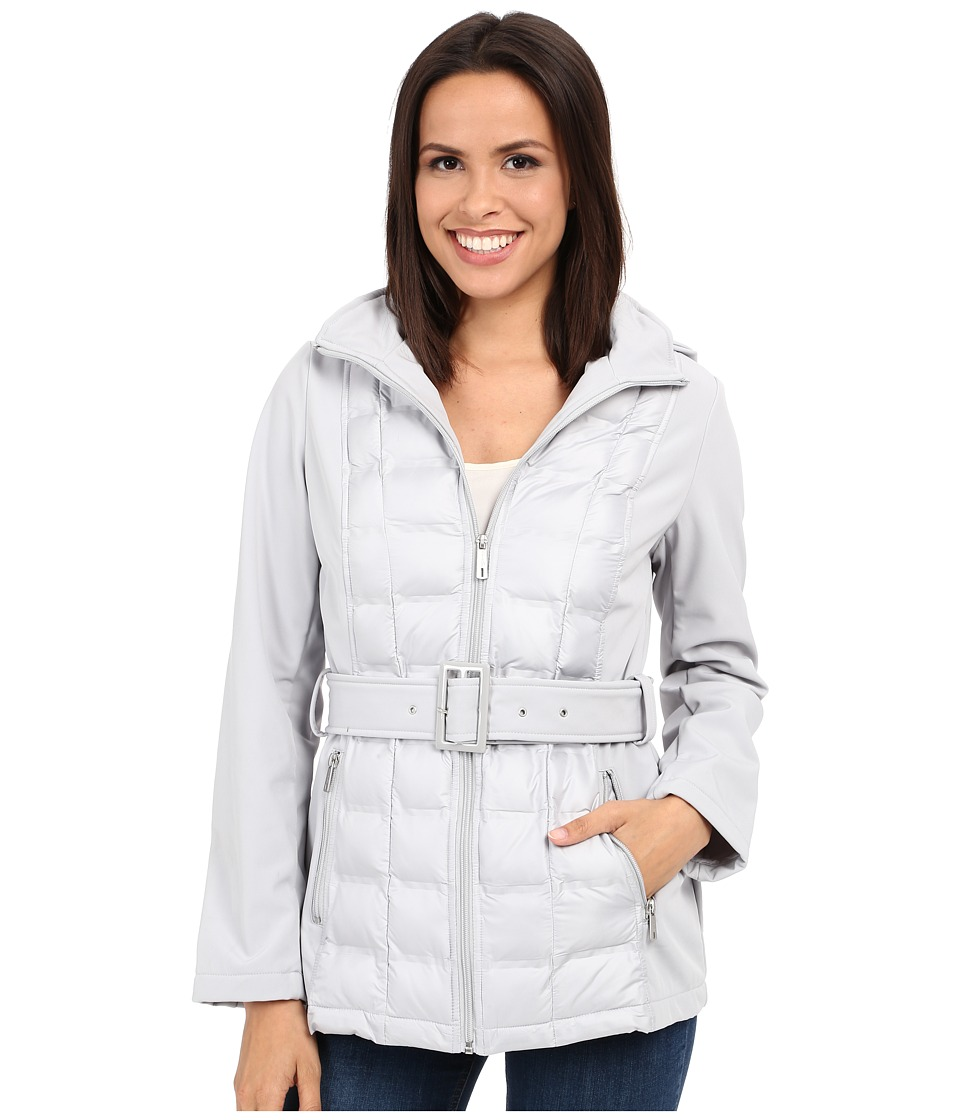Kenneth Cole New York - Quilted Softshell Jacket (Stone) Women's Coat