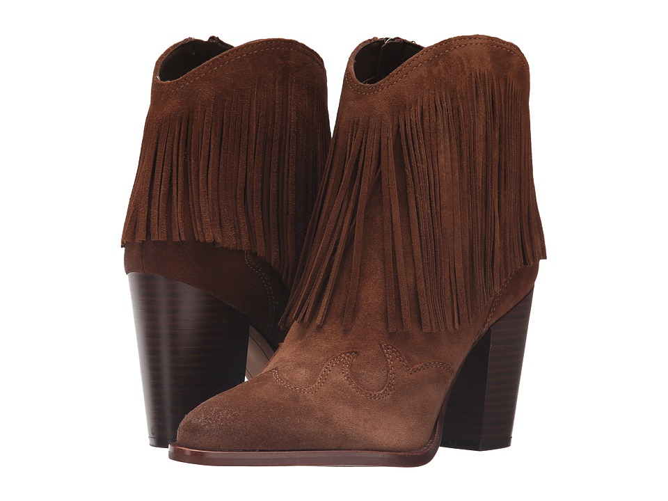 Sam Edelman Benjie Woodland Brown Velour Suede Leather Shoes