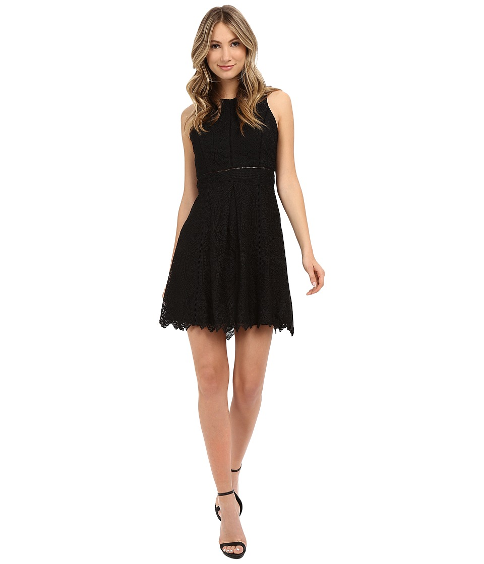 Adelyn Rae - Lace Sleeveless Fit Flare Dress (Black) Women's Dress